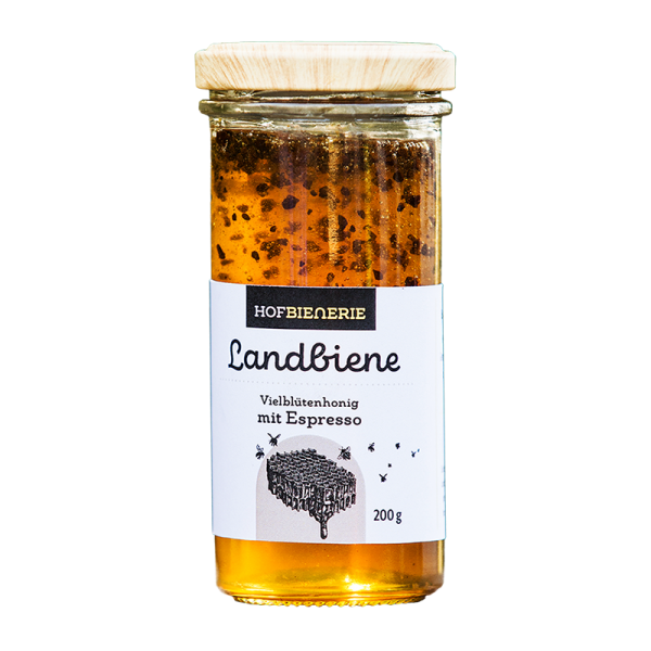 Hofbienerie Glas Landbiene Espresso